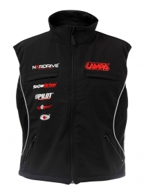 Gilet con zip, nero - XL