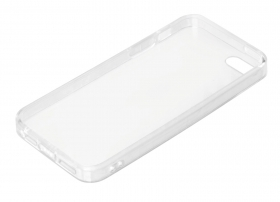 Clear Cover, cover trasparente rigida con cornice in gomma - Apple iPhone 5 / 5s / SE